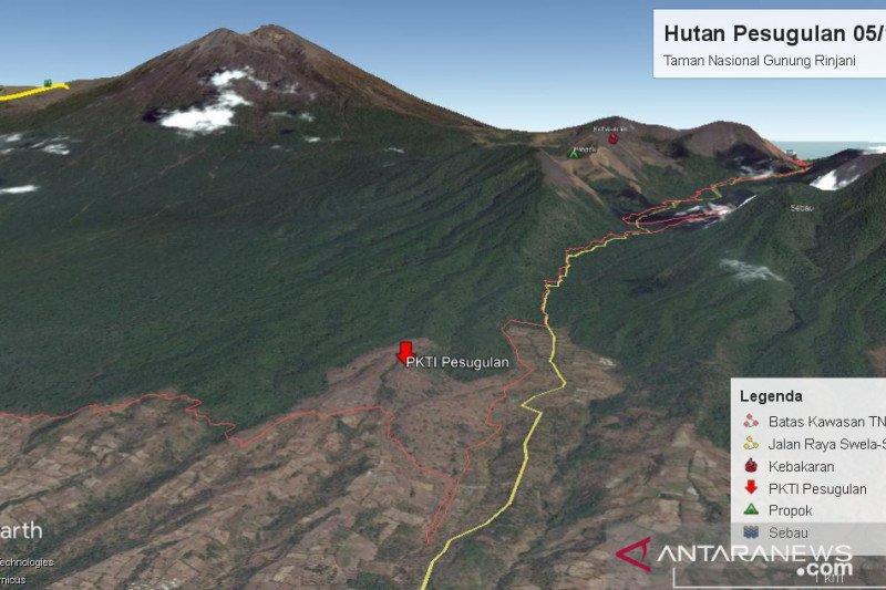 Tim gabungan menggelar operasi penertiban di Gunung Rinjani