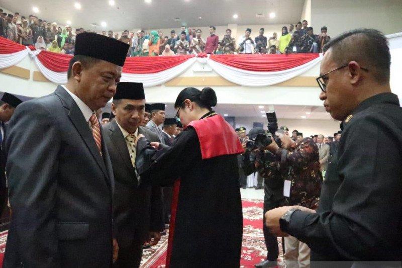 45 anggota DPRD Inhil 2019-2024 resmi dilantik, ada 16 pendatang baru