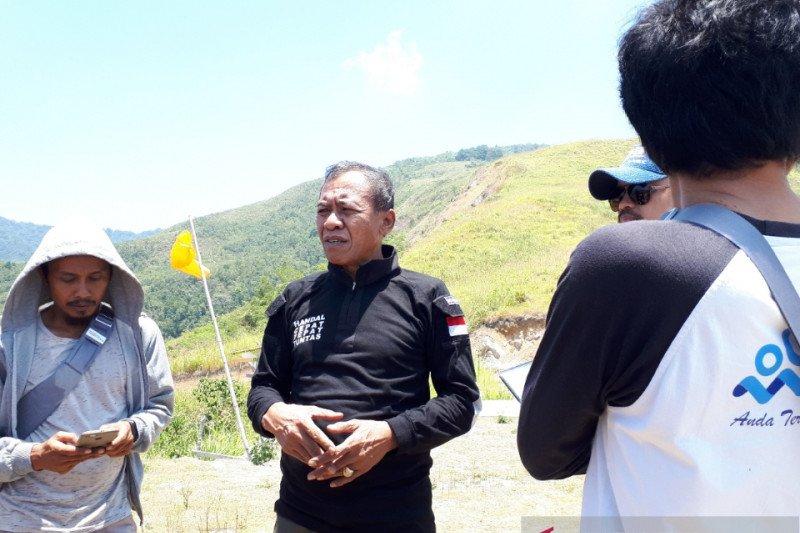 Pengerjaan objek wisata paralayang puncak Salena Palu dilanjutkan lagi 2020