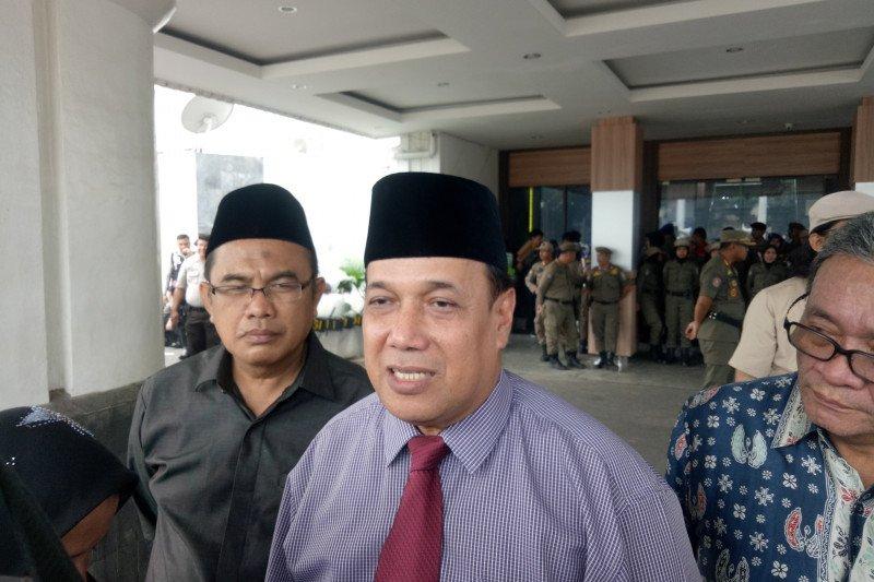 Rektor Unsri datangi aksi mahasiswa di Kantor Gubernur Sumsel
