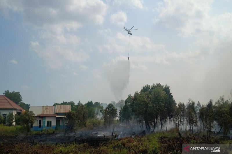 900 hektare lahan gambut yang terbakar bakal ditenggelamkan