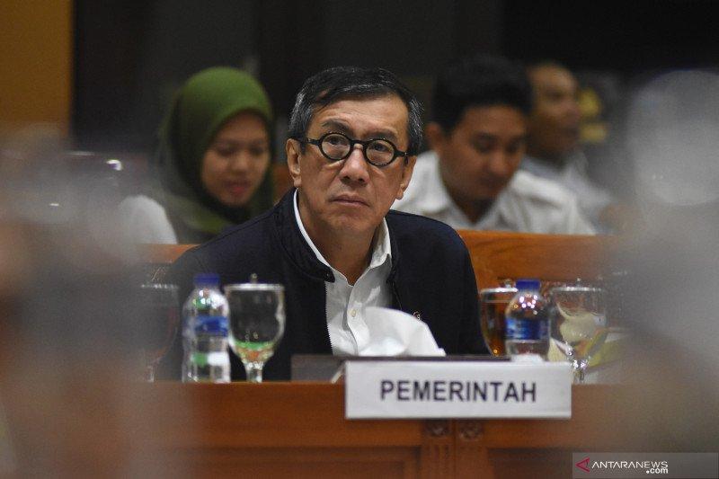 Menteri Yassona bungkam terkait opsi penerbitan Perppu UU KPK