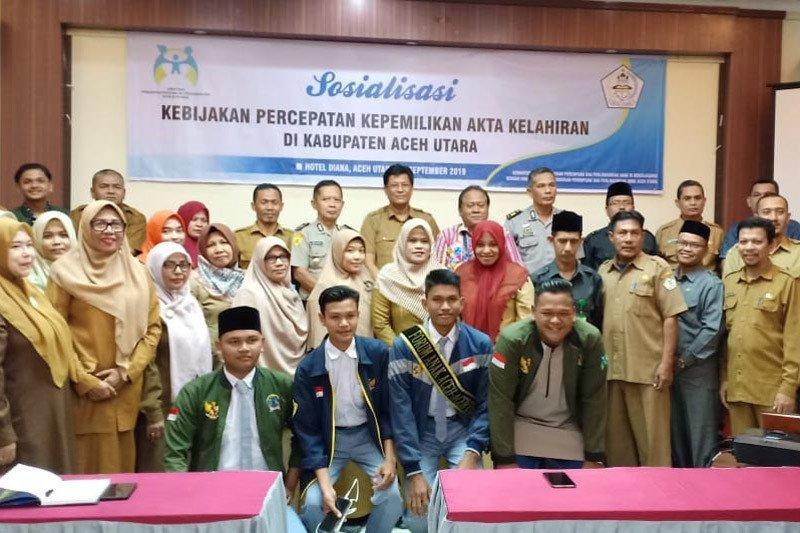 Pemkab Aceh Utara gratiskan pembuatan akta kelahiran