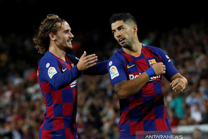 Griezmann, Messi, dan Luis Suarez belum sehati