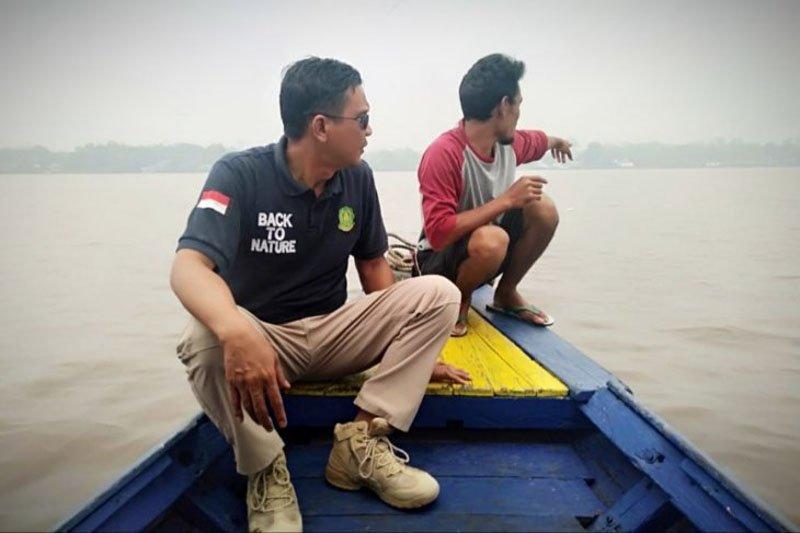 Buaya Sungai Mentaya Kalteng sudah menyasar ke perairan pusat kota