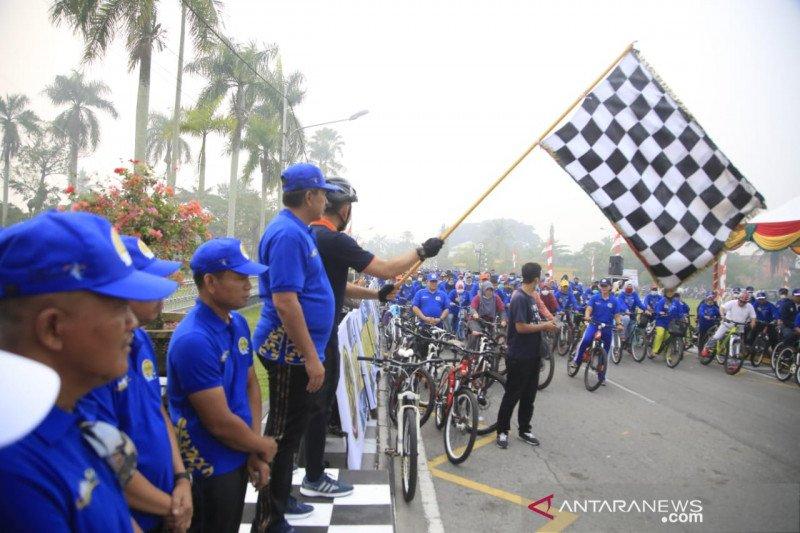 Tour de Siak diawali dengan Fun Bike bersama masyarakat