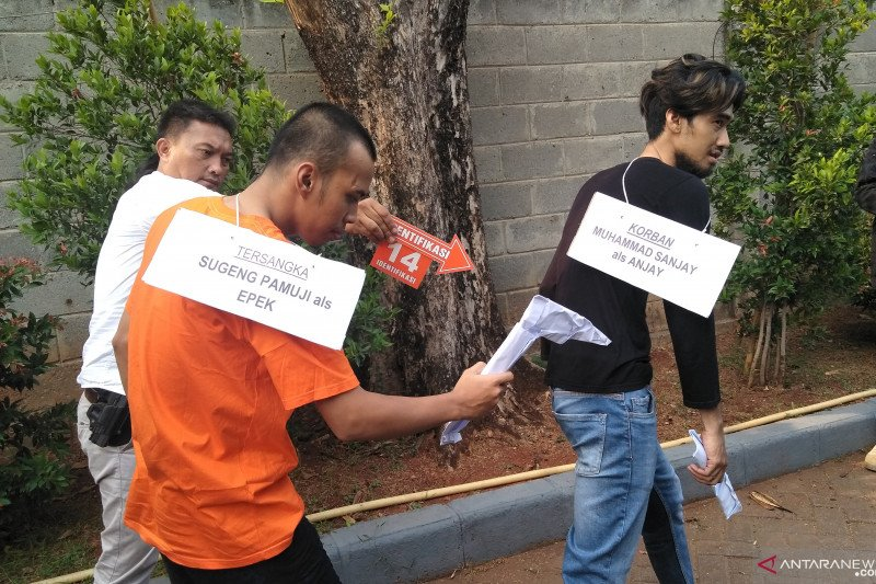 Polisi gelar rekonstruksi 18 adegan tawuran geng motor Kebon Jeruk