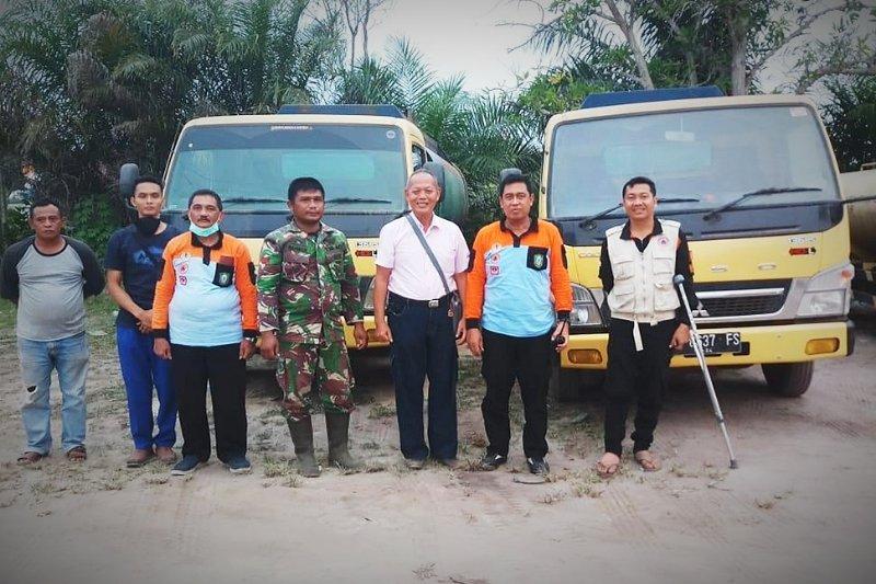 PT Sukajadi Sawit Mekar kerahkan dua mobil tangki bantu tanggulangi karhutla Kotim