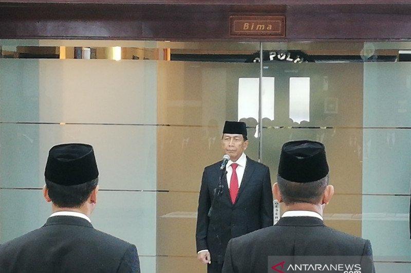 Wiranto minta pejabat Kemenko Polhukam cermati tiga persoalan aktual