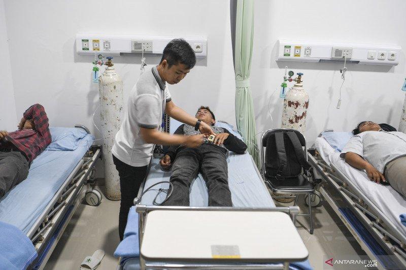 Posko pengungsian PKS rawat inap 204 korban kabut asap Riau
