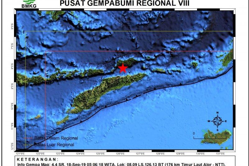 Alor, NTT diguncang gempa magnitudo 4.4