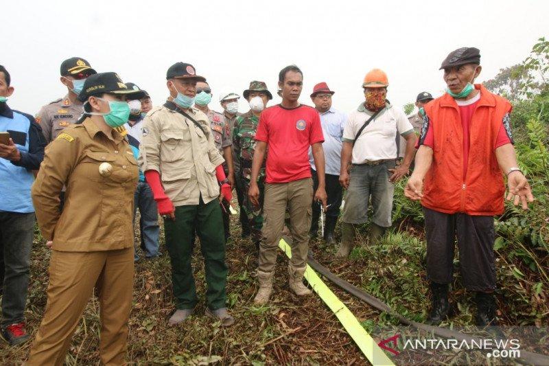 40 hektar lahan Desa Sebatih Kabupaten Landak terbakar