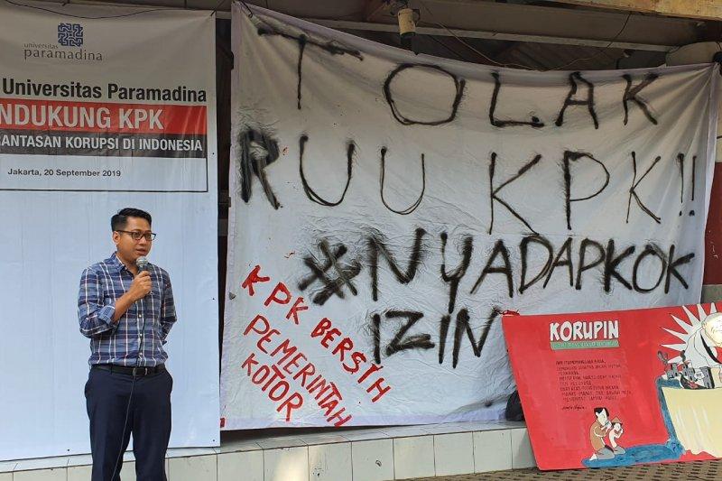 Civitas academica Paramadina ingatkan Presiden Jokowi bahaya pelemahan KPK