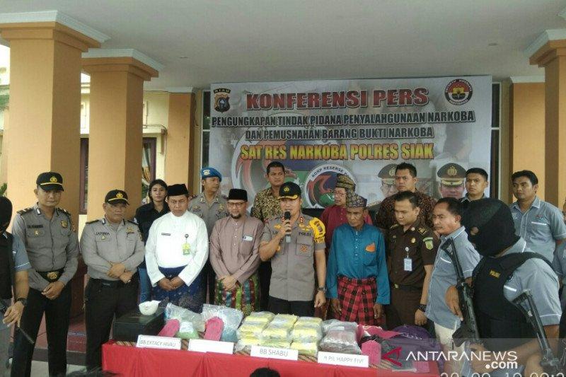 Oknum wartawan bawa sabu 12 kg ditangkap di Siak