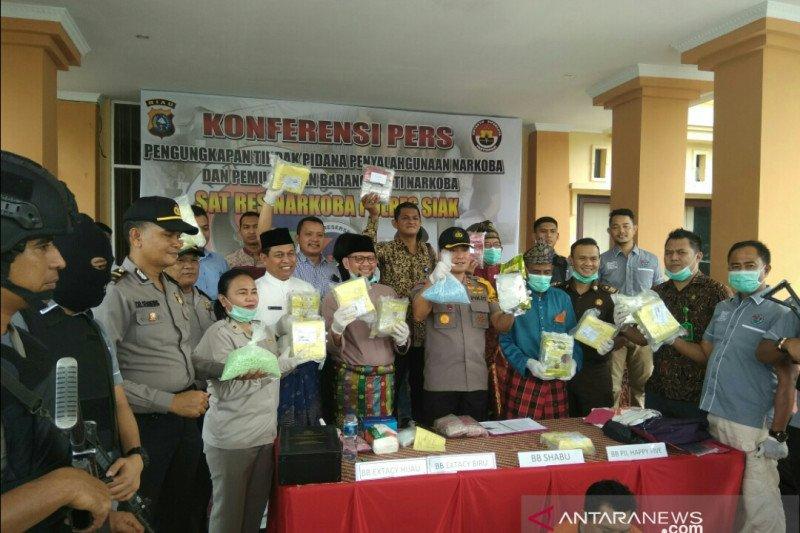 Pengiriman 12 Kg sabu dan 10.000 ekstasi dikendalikan dari Lapas Bangkinang