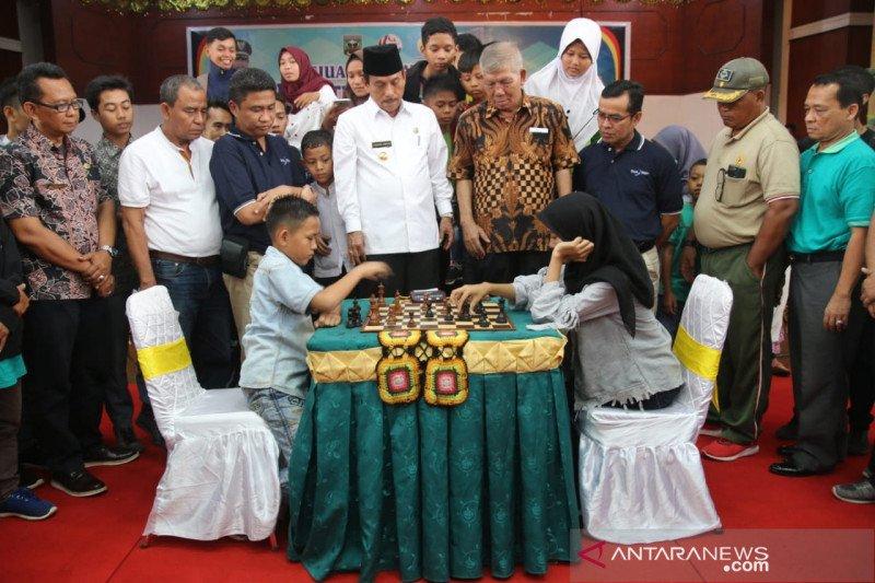 519 peserta ikuti kejuaraan catur bupati cup, dari 13 provinsi