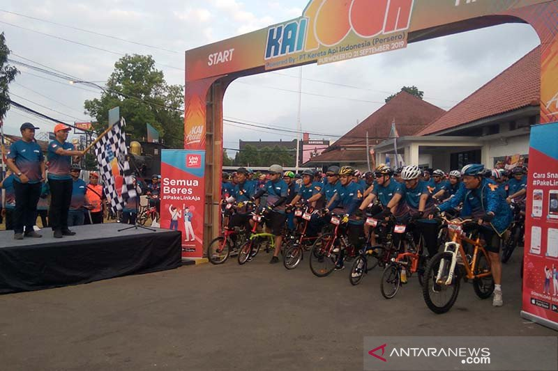 Kegiatan bersepeda KAI100K promosikan wisata Banyumas