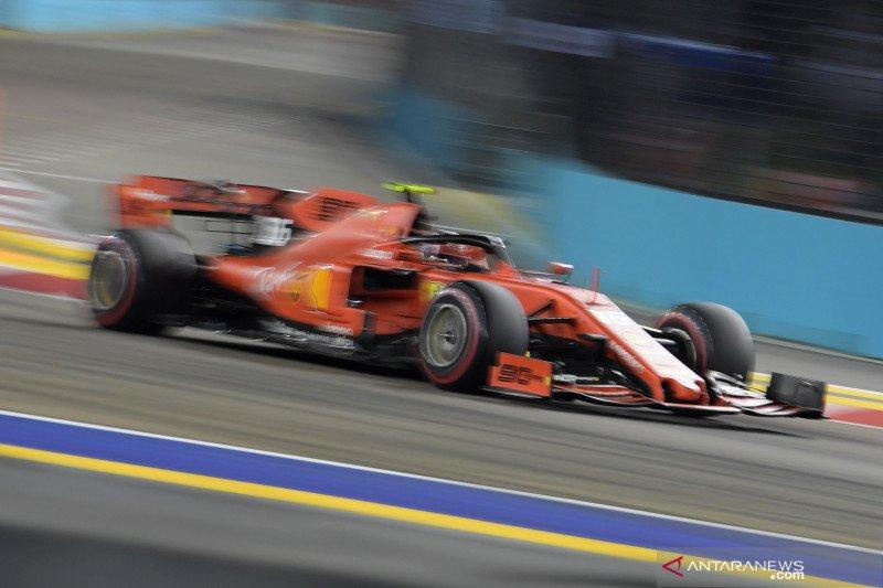Leclerc raih pole position Kualifikasi GP Singapura