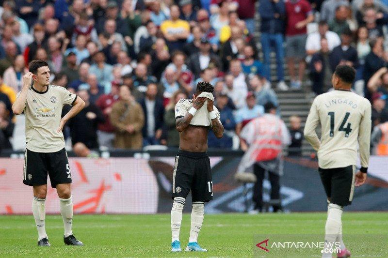 Manchester United dikalahkan West Ham 0-2