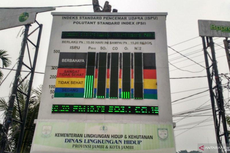 Kabut asap di Jambi semakin pekat, kualitas udara berbahaya