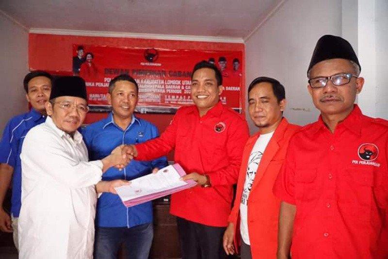 Najmul Akhyar daftarkan diri sebagai bakal Cabup Lombok Utara ke PDIP