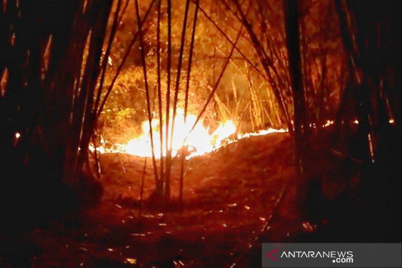 Kawasan perbukitan Gunung Lagadar Kabupaten Bandung kebakaran