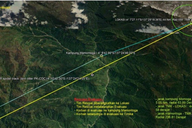 SAR: Serpihan pesawat Twin Otter hilang ditemukan pada ketinggian 13.453 kaki