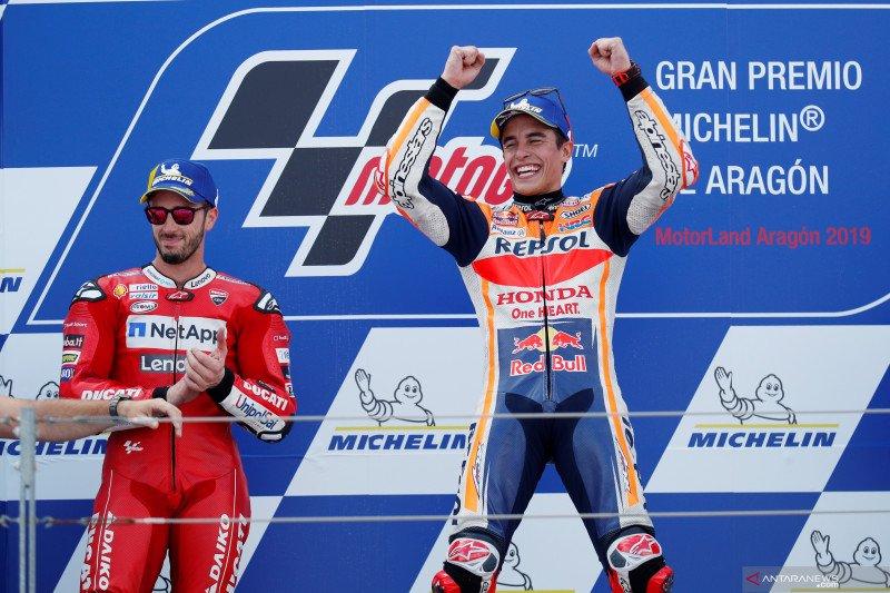 Hasil GP Aragon, Marquez semakin dekat dengan gelar keenam