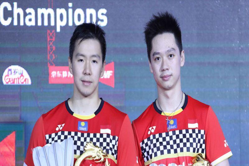 Ringkasan final China Open 2019, Marcus/Kevin raih gelar juara ganda putra