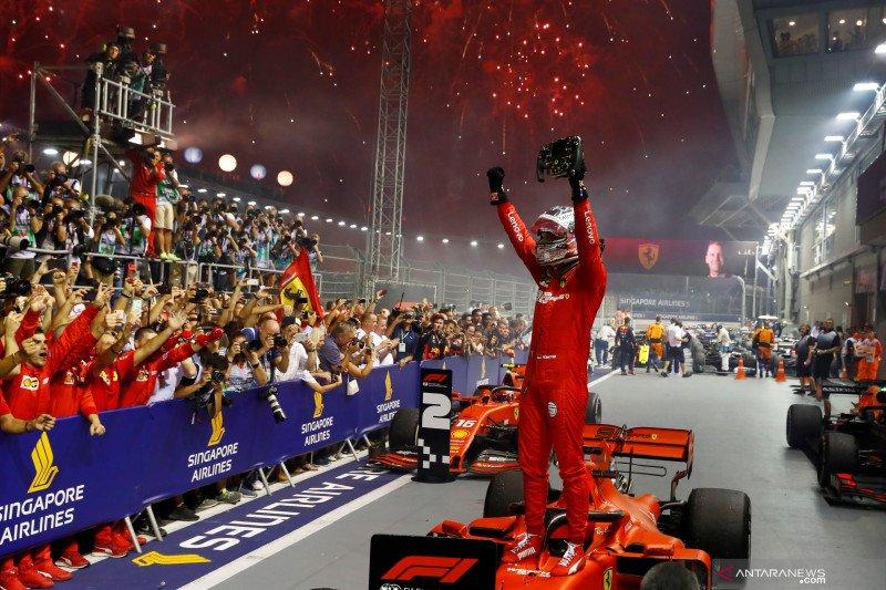 Sebastian Vettel akhiri puasa kemenangan dengan juarai GP Singapura