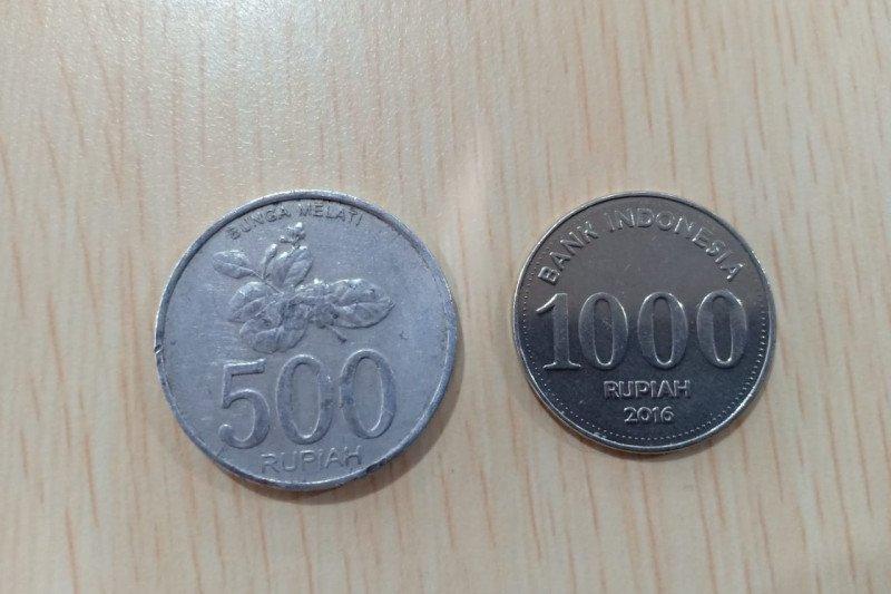 Ternyata uang logam Rp500-Rp1.000 masih sah