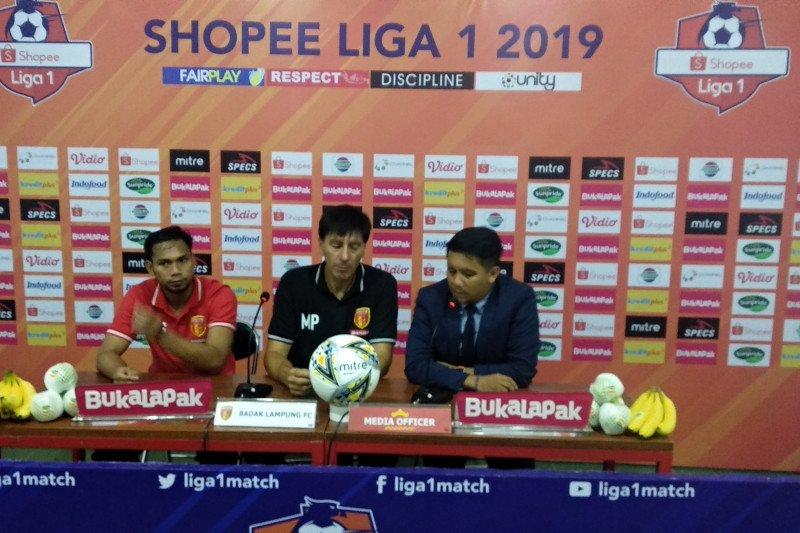 Bermain imbang 2-2 lawan PS Tira Perseru-Badak Lampung naik peringkat