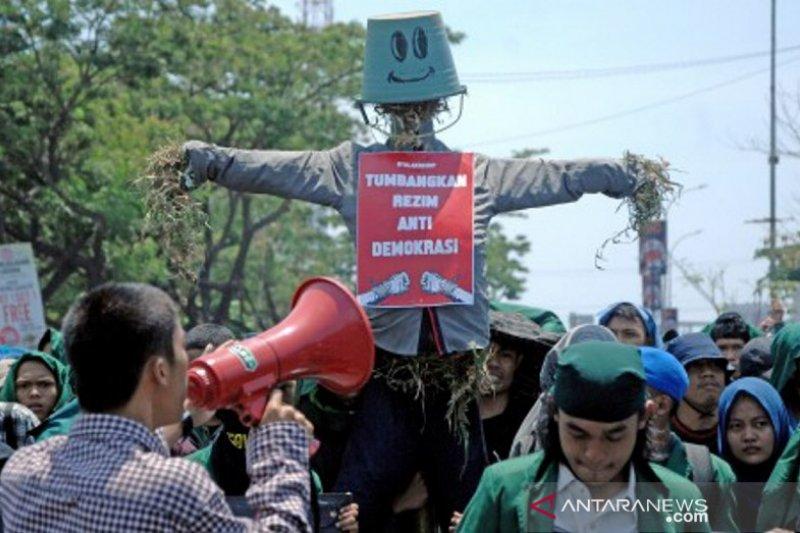 Aksi mahasiswa Makassar