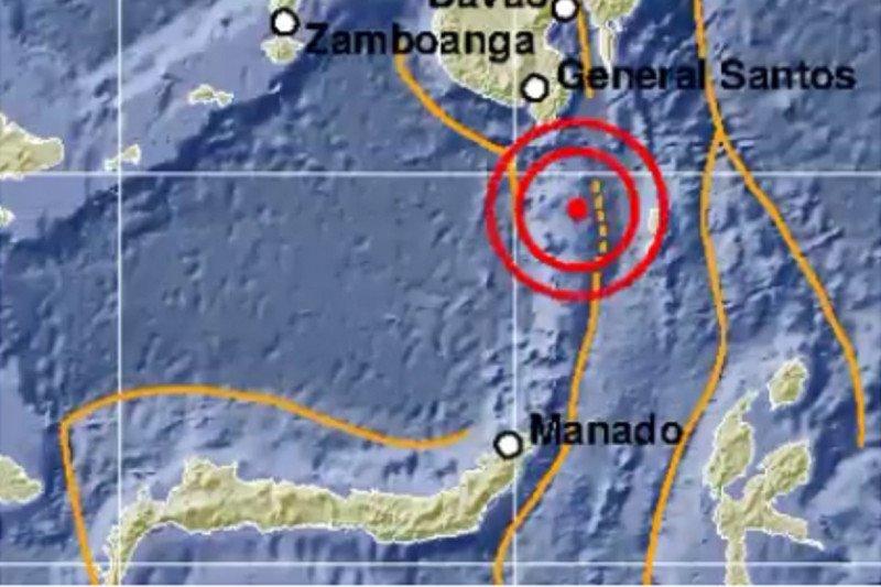 Gempa bermagnitudo 4,1 getarkan Timur laut Tahuna, Sulut