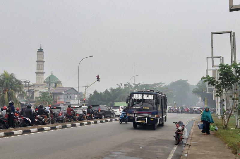 Kabut asap masih selimuti Kota Pontianak