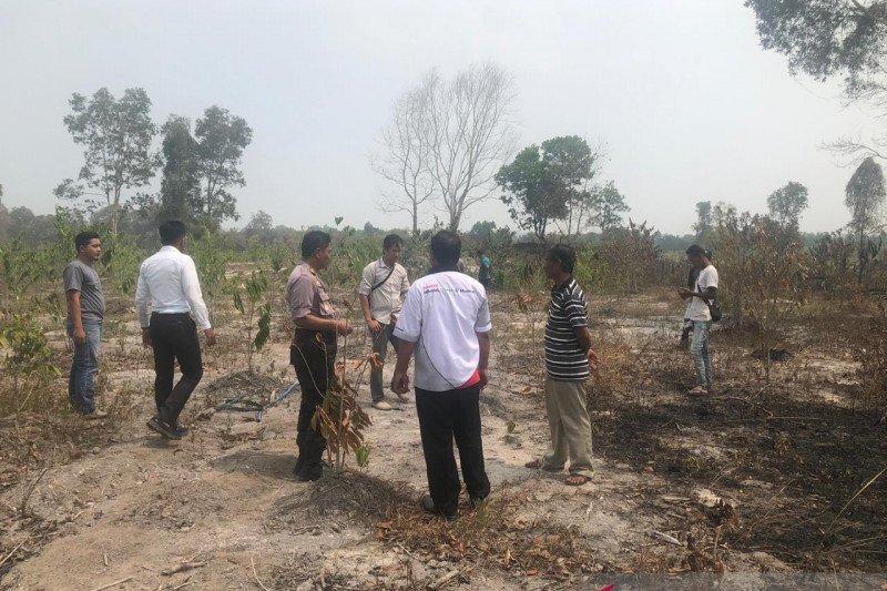 Polsek Tanjung Pandan selidiki kebakaran lahan di Juru Seberang