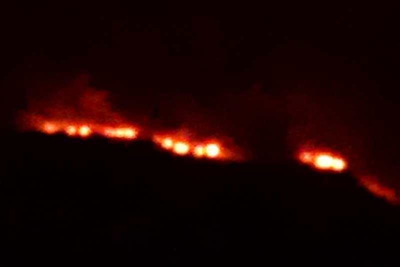 Kawasan hutan lereng Sindoro Wonosobo terbakar