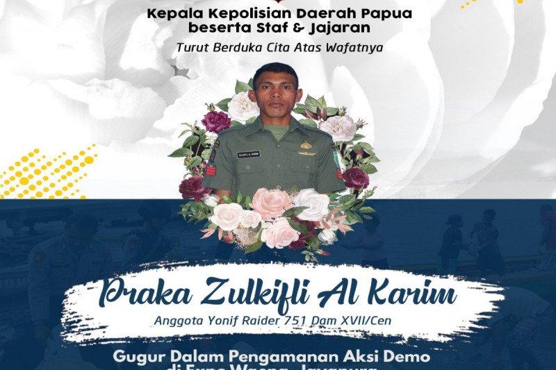 Kapendam Cenderawasih : Praka Zulkifli adalah patriot pembebas sandera