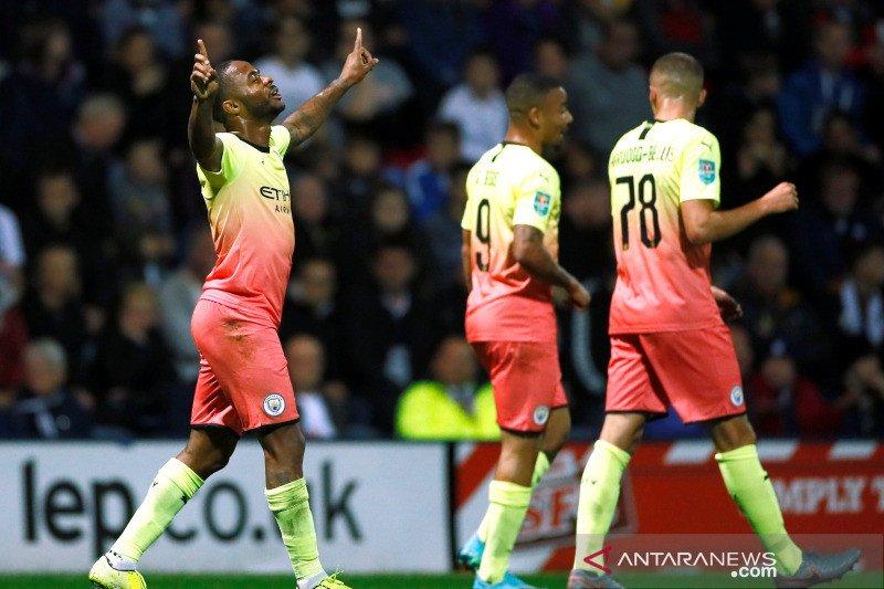 Man City mulus ke putaran keempat usai hajar Preston 3-0