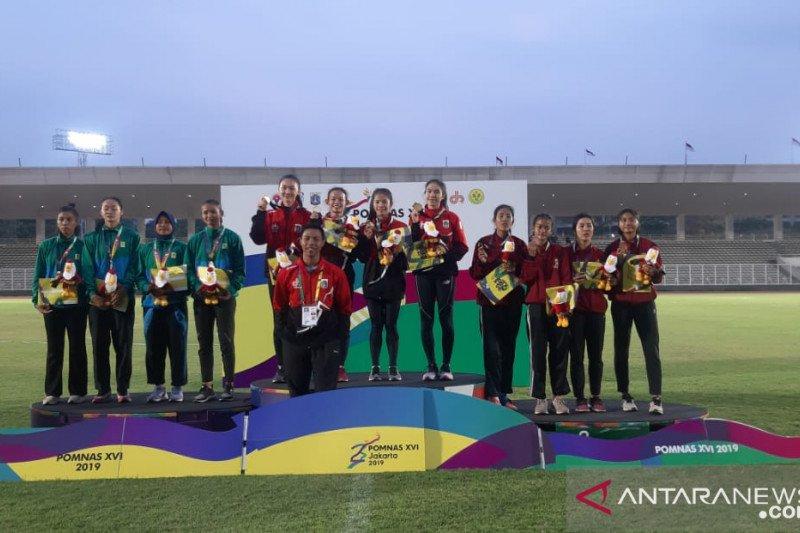 Tim DKI Jakarta raih emas nomor 4x100 m estafet putri Pomnas 2019
