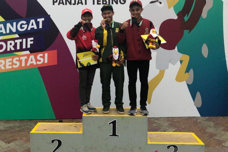 Jatim raih medali emas panjat tebing lead putra Pomnas 2019