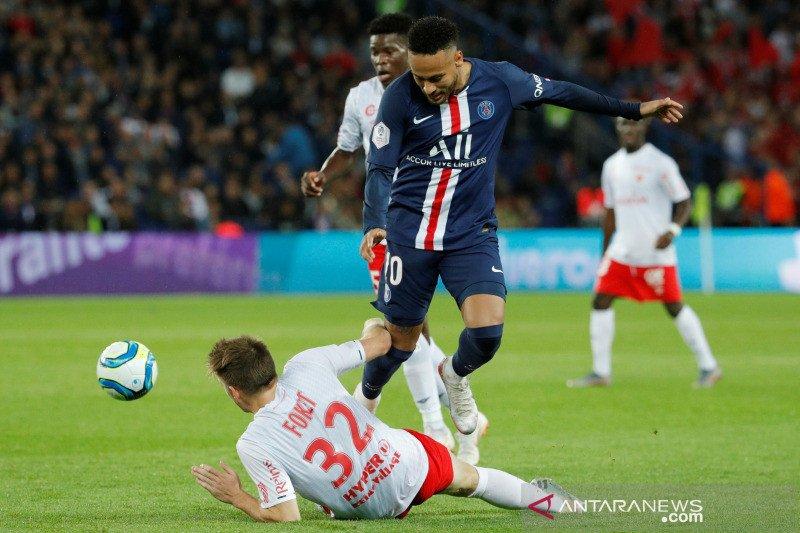 Neymar tak berkutik, PSG dipecundangi Reims 0-2