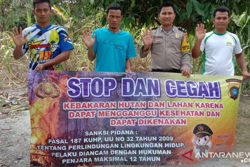 Polisi sosialisasikan bahaya kebakaran hutan
