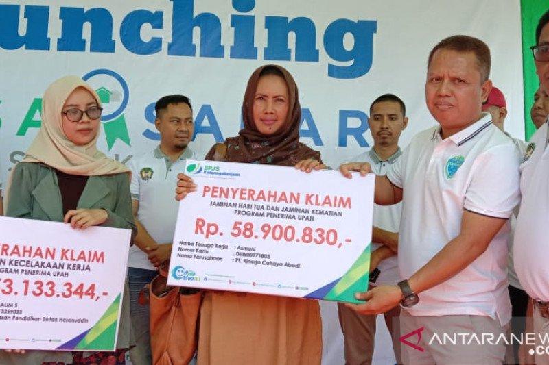 Jennetallasa Gowa resmi jadi Desa Sadar Jaminan Sosial Ketenagakerjaan