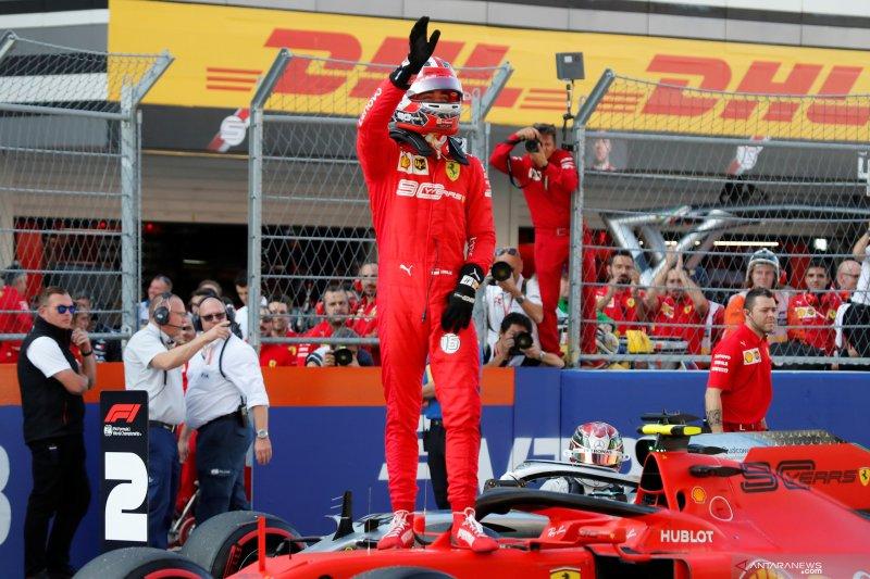 Charles Leclerc raih pole position GP Rusia