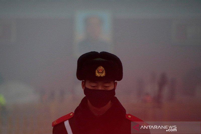 Kabut asap di Beijing menjelang perayaan