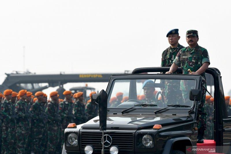 Apel Kesiapan Pasukan TNI Jelang Pelantikan Presiden dan Wapres
