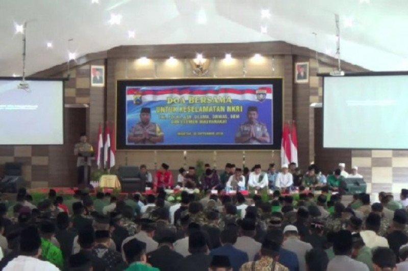 Anggota TNI/Polri dan ulama di Magetan gelar doa bersama