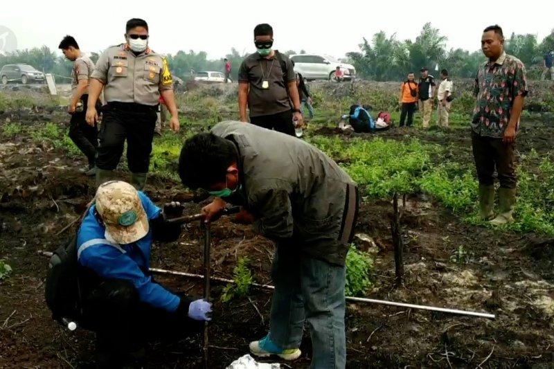 Polres Kotim teliti sampel gambut terbakar di Mentaya Hilir Utara