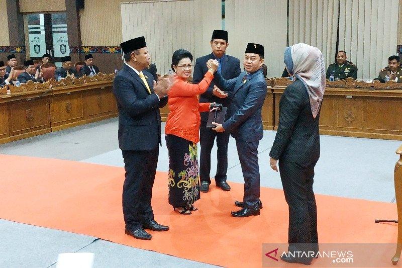 Usai dilantik, pimpinan DPRD Kotim janji tingkatkan pengawasan kinerja pemkab